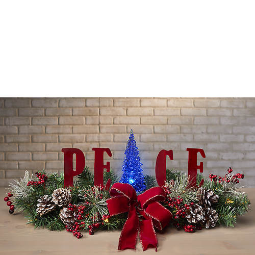 Peace Lighted Centerpiece