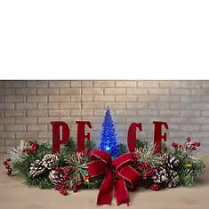 Peace Lighted Centerpiece
