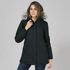 Women's Faux Fur-Trimmed Parka