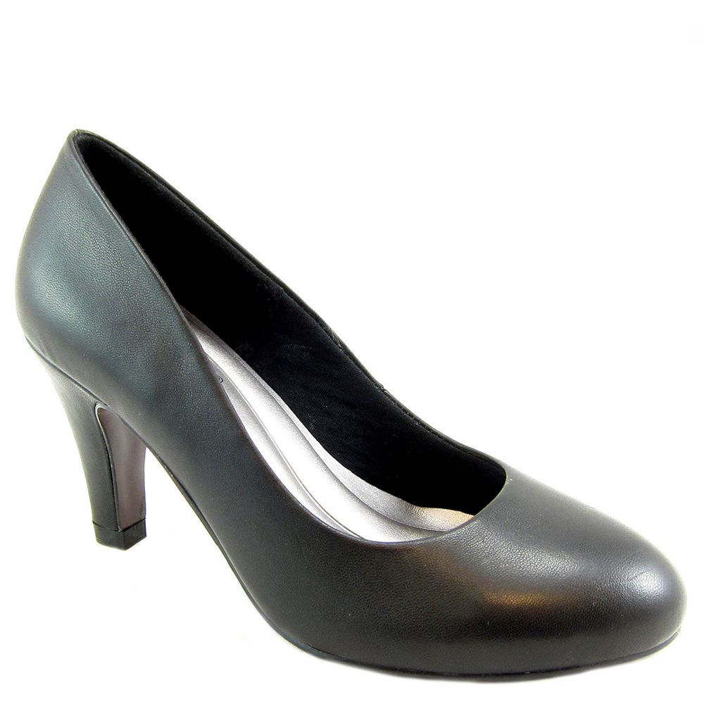 1950s Style Shoes | Heels, Flats, Boots Beacon Janice Womens Black Pump 10 N $74.95 AT vintagedancer.com