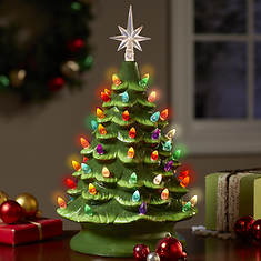Lighted Ceramic Tree