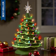 Lighted Ceramic Tree