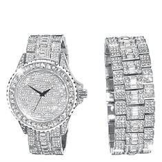 Bling Master BM511 Silver White CZ Watch