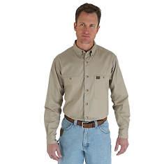 Wrangler Riggs Workwear Men's Long-Sleeve Twill Work Shirt