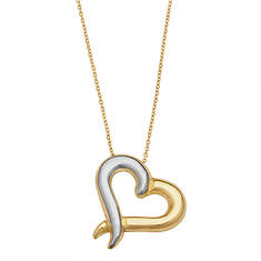 10K Gold Two-Tone Heart Necklace