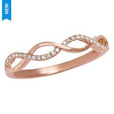 Women's 10K Yellow Gold Diamond Weave Ring