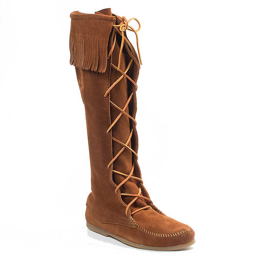 Minnetonka Front Lace Knee High Boot (Men's)