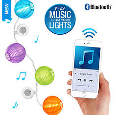 Bright Tunes LED Lantern String Lights with Bluetooth Speakers