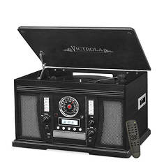 Victrola Wood 7-in-1 Bluetooth Record Player