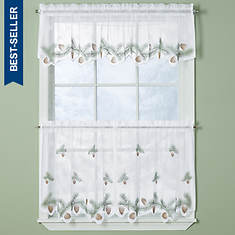 Pine Bough Tier and Valance Set