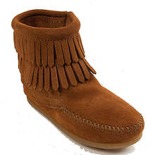 Minnetonka Double Fringe Side Zip Boot (Girls' Infant-Toddler-Youth)