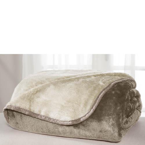 All Seasons Reversible Plush Microfiber Blanket