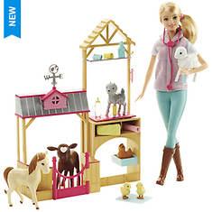 Barbie Farm Vet Doll & Playset