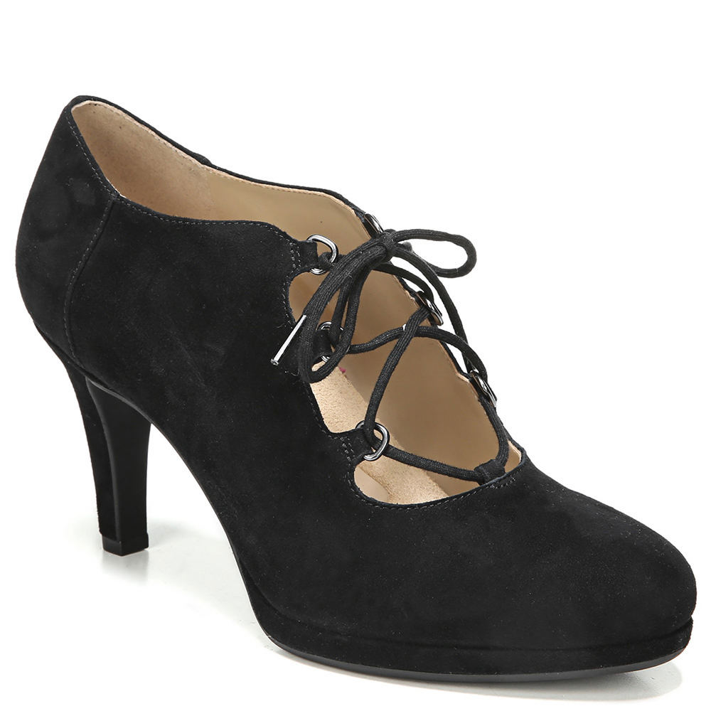 Retro Vintage Style Wide Shoes Naturalizer Macie Womens Black Pump 10 W $119.95 AT vintagedancer.com