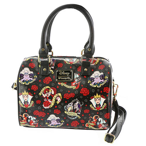 Loungefly Disney Villians Roses Tattoo Crossbody Bag