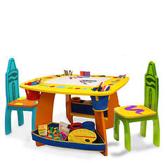 Grow'n Up Crayola Wooden Table and Chair Set