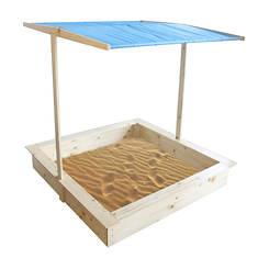 Wood Sandbox with Canopy