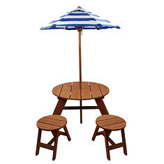 Table and Chairs with Umbrella
