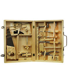 Homeware 16-Piece Metal Tool Kit with Wood Box