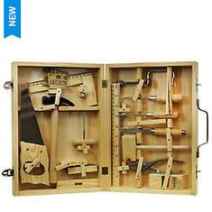 Homeware 16-Piece Metal Tool Kit with Wood Box