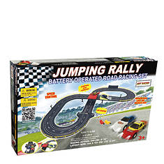 Golden Bright Battery-Operated Jumping Rally Racing Set