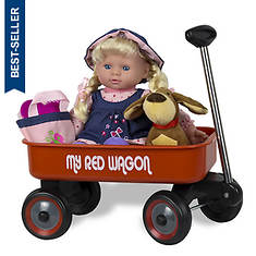 Kid Concepts Baby Doll with Wagon Playset