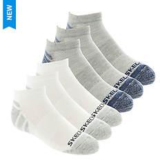 Skechers Boys' S108294 6-Pk 1/2 Terry Low Cut Socks