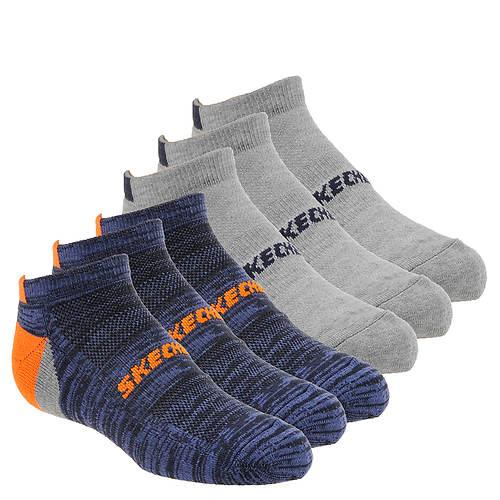 Skechers Boys' S110148 6-Pk 1/2 Terry Low Cut Socks