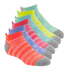 Skechers Girls' S109988 6-Pk Non Terry Low Cut Socks