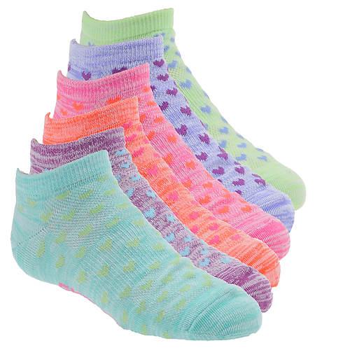 Skechers Girls' S109987 6-Pk Non Terry Low Cut Socks