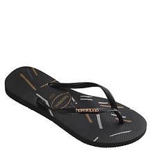 Havaianas Slim Logo Metallic Fine Lines Sandal (Women's)