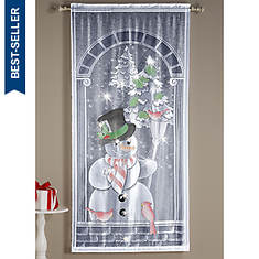 Airbrushed Christmas Lighted Snowman Panel