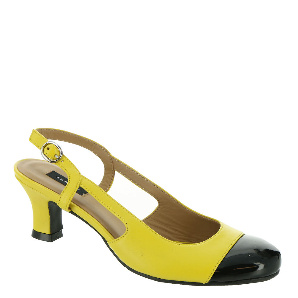 70s Clothes   Hippie Clothes & Outfits ARRAY Jewel Womens Yellow Pump 10.5 W $79.95 AT vintagedancer.com
