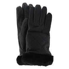 UGG® Women's Quilted Nylon Smart Glove With Fur