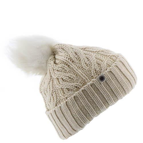 UGG® Women's Textured Cuff Hat With Sheepskin Fleece Pom