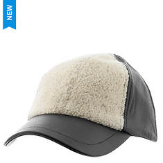 UGG® Women's Curly Shearling/Leather Baseball Hat