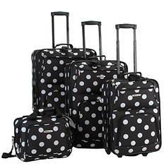 4 -Piece Black Dots Luggage Set