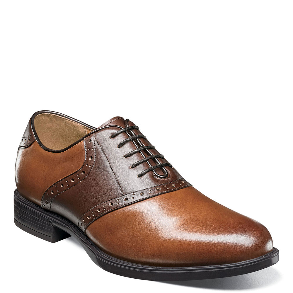 Retro Clothing for Men | Vintage Men's Fashion Florsheim Midtown Saddle Oxford Mens Brown Oxford 11.5 D $109.95 AT vintagedancer.com