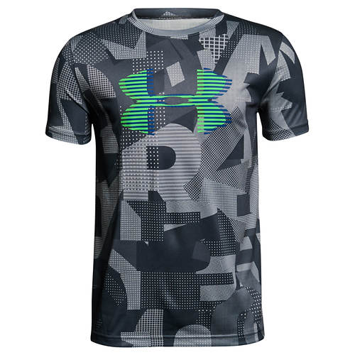 Under Armour Boys' Tech Big Logo Printed Tee