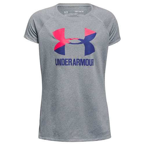 Under Armour Girls' Big Logo Tee