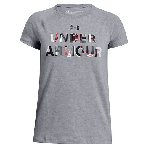Under Armour Girls' Asymmetric Branded Tee
