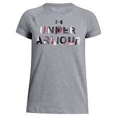 Under Armour Girls' Asymmetric Branded Tee