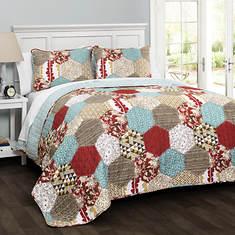 Lush Decor Grace Patchwork 3-Piece Quilt Set