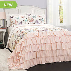 Lush Decor Flutter Butterfly 2-Piece Quilt Set