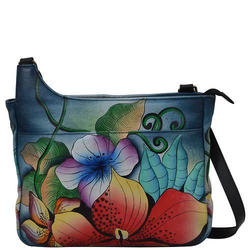 Anna by Anuschka Leather Medium Crossbody Bag