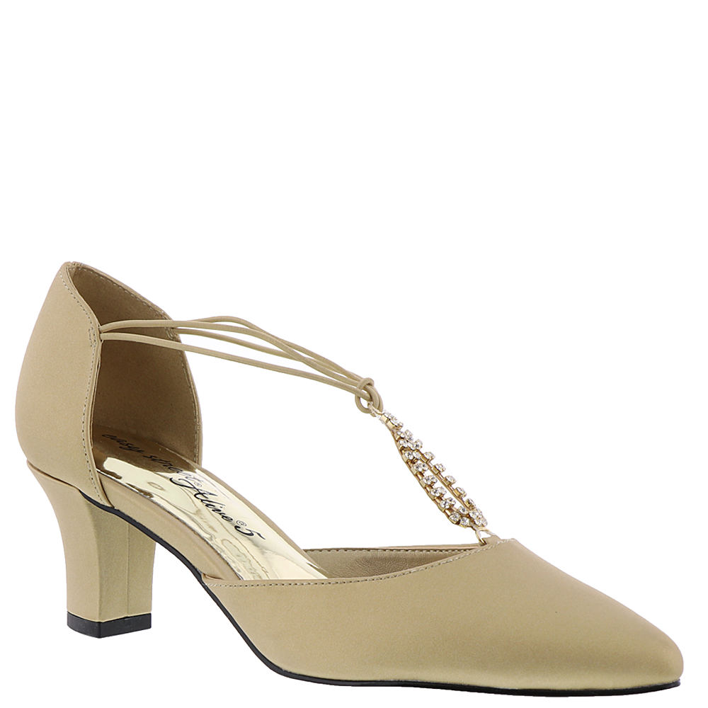 1920s Style Shoes Easy Street Moonlight Womens Gold Pump 6 N $59.95 AT vintagedancer.com