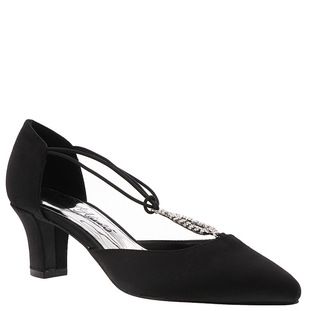 1920s Style Shoes Easy Street Moonlight Womens Black Pump 9.5 M $59.95 AT vintagedancer.com