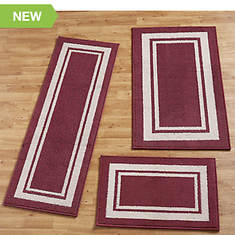 Racetrack 3-Pc. Rug Set