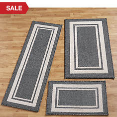Racetrack 3-Piece Rug Set
