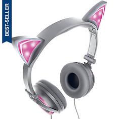 Sharper Image Light-Up Cat Ear Headphones